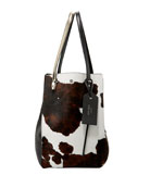 Twist Men's Cow-Print Calf-Hair Tote Bag