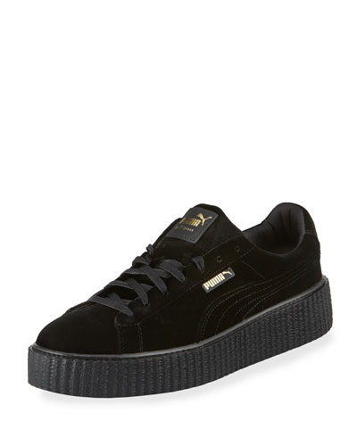 Men's Velvet Creeper Sneakers, Black