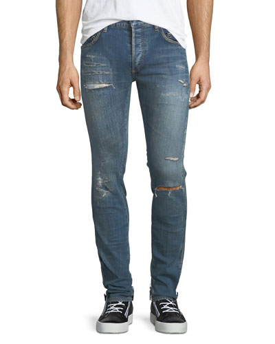 Original Low-Waist Destroyed Skinny Jeans