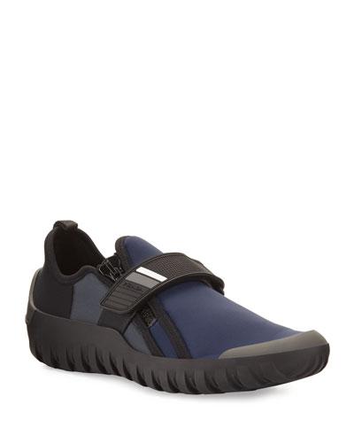 Neoprene Scuba Sneaker, Navy/Black
