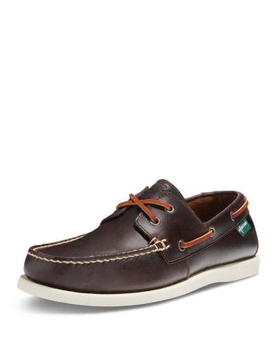 Kittery 1955 Leather Boat Shoe, Dark Brown