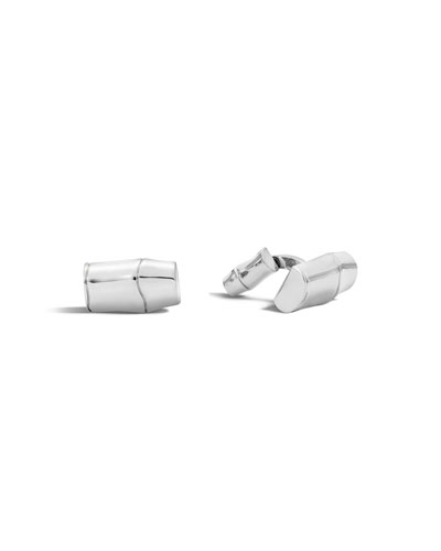 Men's Bamboo Collection Sterling Silver Cuff Links