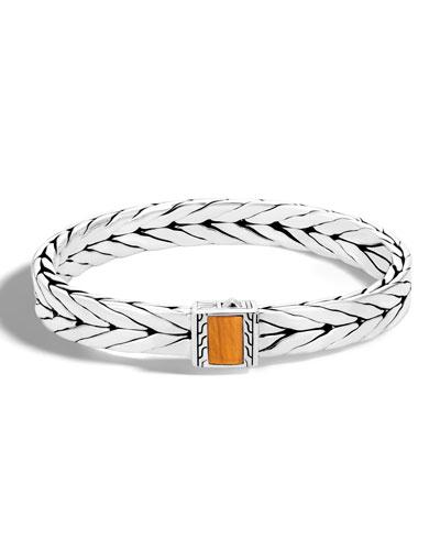 Men's Modern Chain Medium Tiger Eye Bracelet, Light Brown