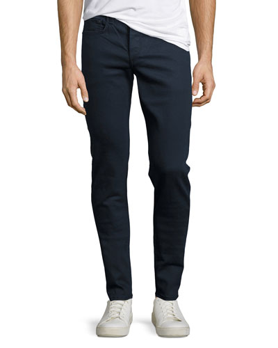 Standard Issue Fit 1 Slim-Skinny Jeans, Coated Navy