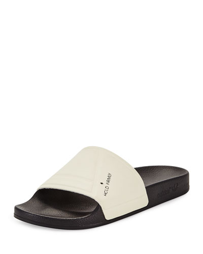 The Adilette Bunny Sandal Slide, Black/White