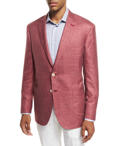 Heather Silk-Cashmere-Linen Blazer