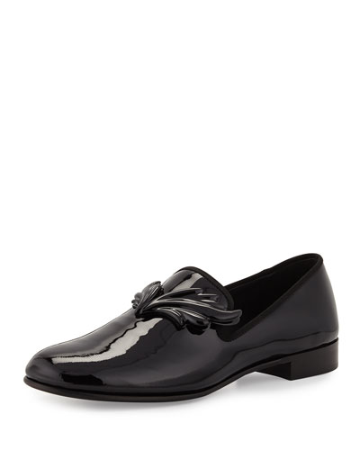 Kevin Men's Patent Wing Formal Loafer, Nero