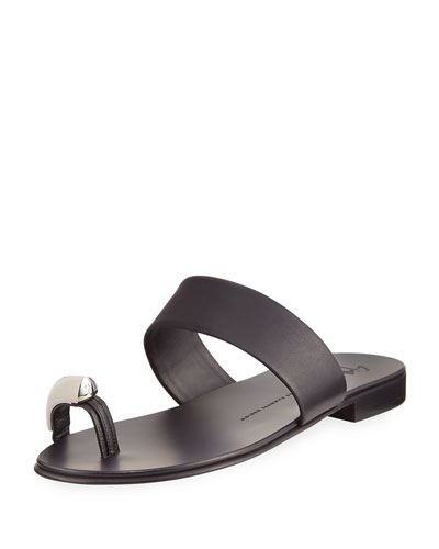 Men's Metal Toe-Guard Sandal, Black