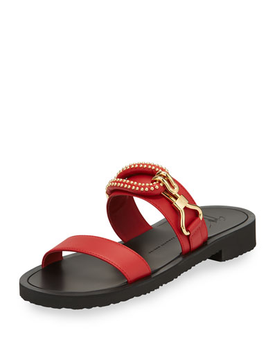 Men's Gomzak New Hook Slide Sandal, Red