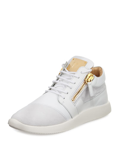 Men's Leather & Suede Trainer Sneaker