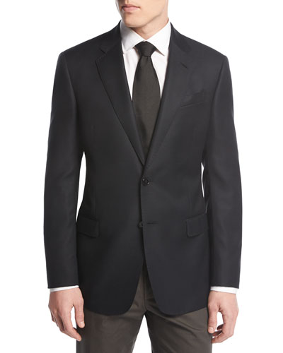 Soft Basic Two-Button Sport Coat, Black