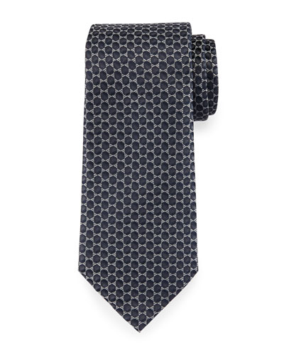 3D Dot Tie, Charcoal Gray