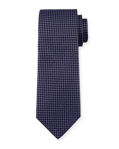 Dotted Diamond Silk Tie, Purple
