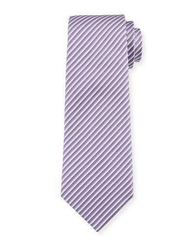 Mixed-Stripe Silk Tie, Lavender