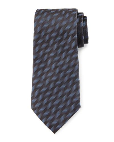 3D Diagonal Tie, Gray