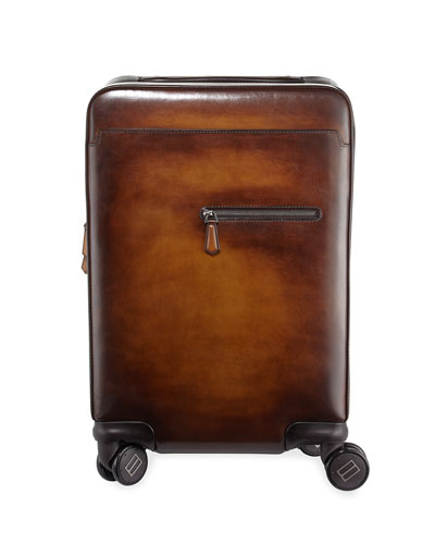 Formula 1004 Leather Trolley Suitcase
