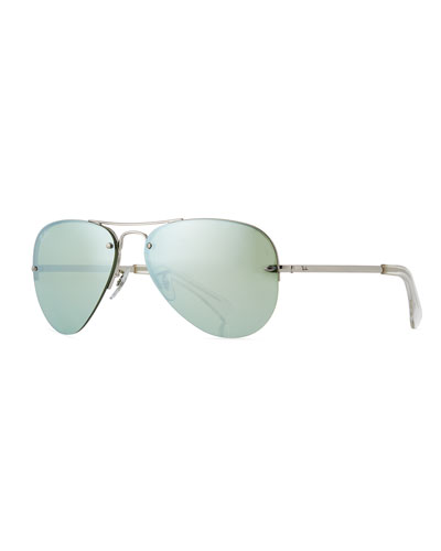 Men's Semi-Rimless Aviator Sunglasses