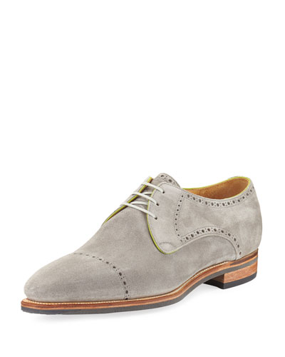 Ike Cap-Toe Suede Derby Shoe