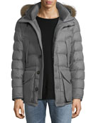 Rethel Fur-Trim Puffer Coat