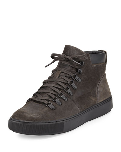 Lancer Suede Hiker Boot, Carbon/Black