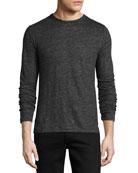 Owen Long-Sleeve Linen T-Shirt, Charcoal