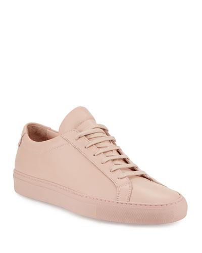Men's Achilles Leather Low-Top Sneakers, Blush