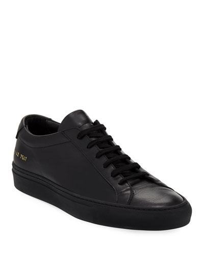 Men's Achilles Low-Top Sneaker, Black