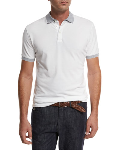 Piqué Polo Shirt w/Striped Tipping