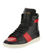 SL/10H Leather High-Top Sneaker