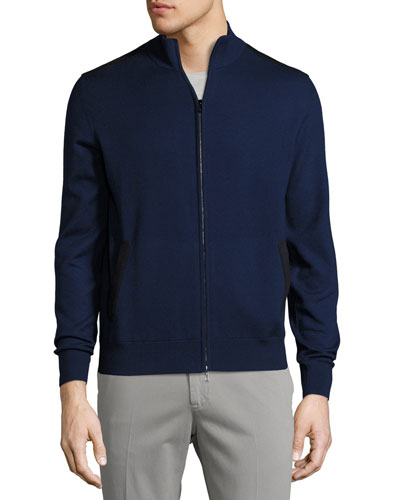 Braintree Cashmere-Silk Bomber Sweater