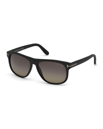 Olivier Polarized Soft Square Sunglasses, Black