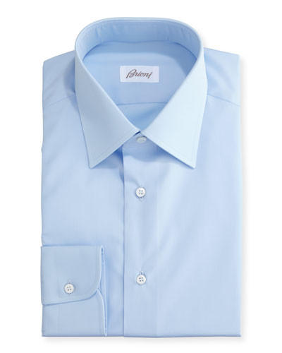 Wardrobe Essential Solid Dress Shirt, Blue