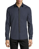 Sullivan Wealth Contrast-Placket Sport Shirt