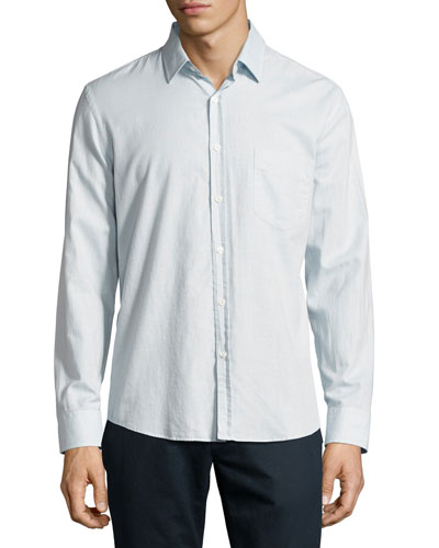 John T Standard-Cut Oxford Shirt, Light Blue