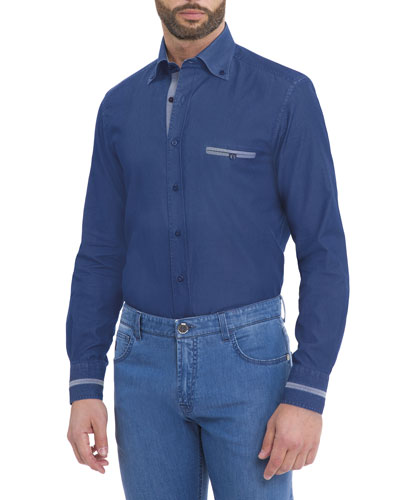 Denim Sport Shirt, Indigo