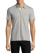 Pensacola Space-Dye Polo Shirt, Navy