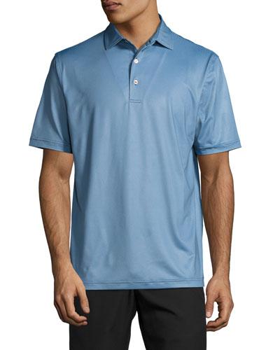 International Printed Birdseye Polo Shirt, Dark Blue