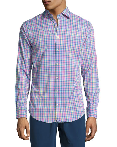 Reserve Plaid Performance Sport Shirt, Multicolor