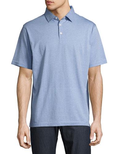 Vintage Dot Polo Shirt, Indigo