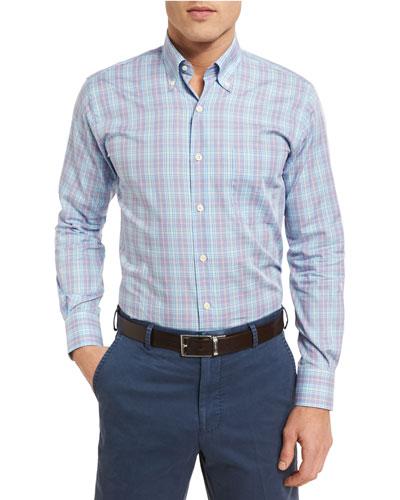 Pacific Glen Plaid Sport Shirt, Purple