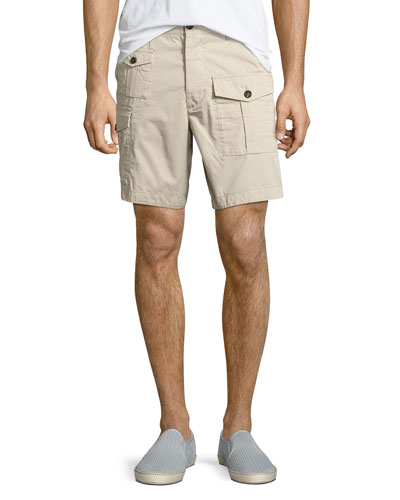Military Cargo Shorts, Beige