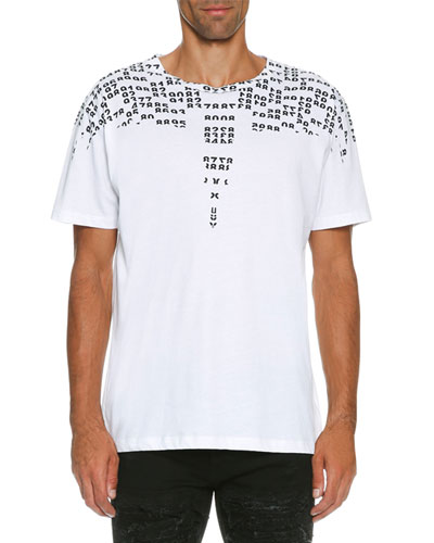 Rey Numbers-Print T-Shirt, White