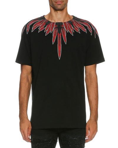 Teodoro Knives-Print T-Shirt, Black/Red