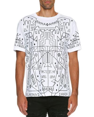 Salomon Allover-Print T-Shirt, White/Black