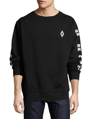 Rey Numbers-Print Sweatshirt, Black