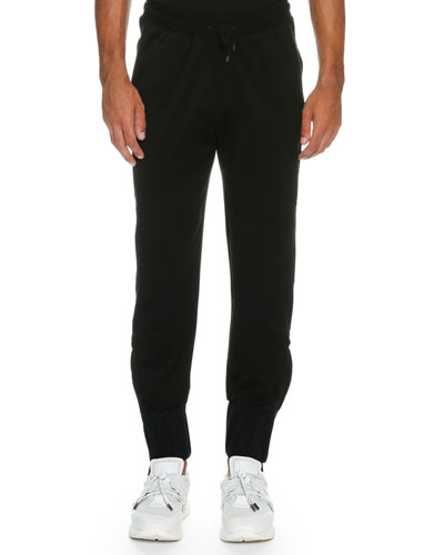 French Terry Jogger Pants, Black