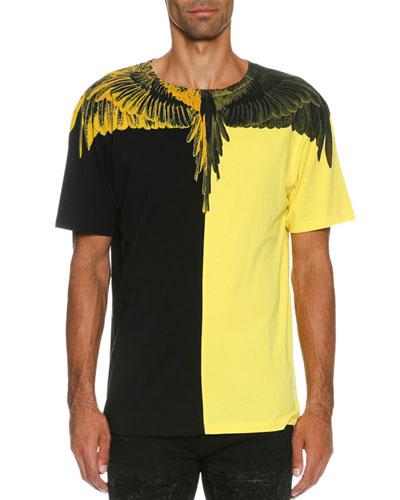 Naldo Colorblock Wing T-Shirt, Black/Yellow