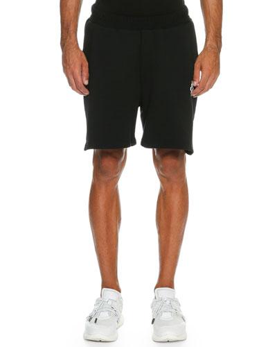 Paco Printed Sweat Shorts, Black