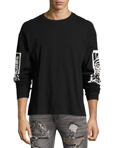 Inversion Raglan Crewneck T-Shirt, Black