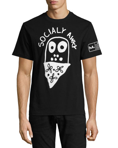 Socially Awky T-Shirt, Black